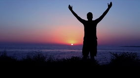 Хваление и поклонение морем на заходе солнца акции видеоматериалы