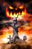 Хеллоуин Джек и могилы Стоковое Изображение RF