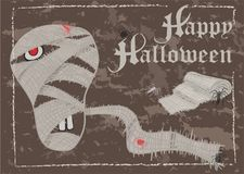 Хеллоуин, карточка почтового сбора, винтажный стиль Стоковое Изображение RF