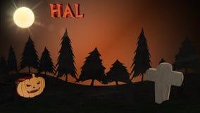 Хеллоуин, предпосылка, анимация видеоматериал