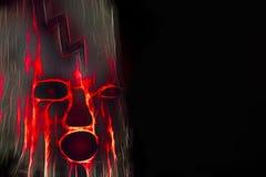 Хеллоуин страшный увеличивает изображение с космосом экземпляра иллюстрация штока
