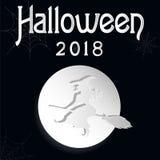 Хеллоуин черно-белый иллюстрация штока