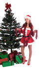 хелпер s santa сексуальный стоковая фотография rf