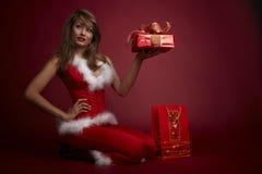хелпер santa сексуальный Стоковая Фотография