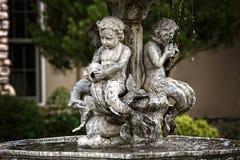 Херувимы фонтана Стоковое Изображение