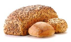 Хец хлеба и кренов изолированных на белизне Стоковое Изображение RF