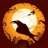 Хеллоуин - ворона Стоковое Изображение