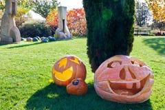 Хеллоуин в саде, Troja, Прага, чехия Стоковые Изображения RF