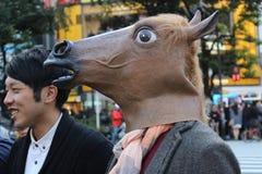 Хеллоуин в Shibuya Стоковая Фотография