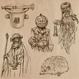 Хеллоуин, изверги, волшебство - Vector собрание Стоковое Изображение