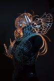 Хеллоуин, кристаллический дизайн с красочными световыми эффектами, tr черепа стоковые фотографии rf