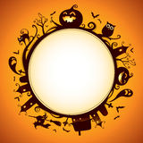 Хеллоуин округлил границу для дизайна Стоковое фото RF