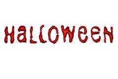 Хеллоуин - письма капания - красный цвет крови Стоковые Изображения