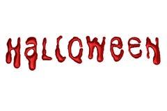 Хеллоуин - письма капания - красный цвет крови Стоковое фото RF