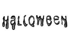 Хеллоуин - письма капания - чернота Стоковое Фото