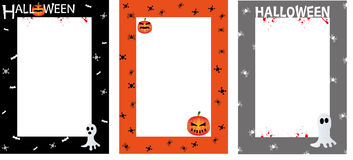 Хеллоуин приглашает границу плаката стоковые фотографии rf