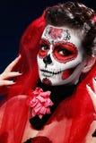 Хеллоуин составляет череп сахара Стоковая Фотография