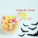 Хеллоуин, фокус или обслуживание с конфетой Стоковое Изображение RF