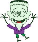 Хеллоуин Frankenstein смеясь над восторженно Стоковое Изображение