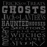 Хеллоуин Scripts предпосылка Стоковая Фотография