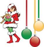 Хелпер девушки Санты рождества милый Стоковое Фото