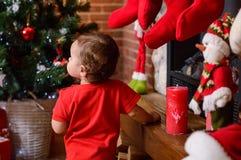 Хелпер Santas маленький Стоковое Изображение