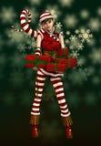 Хелпер Sophie Santas маленький, 3d CG бесплатная иллюстрация