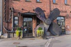 Хельсинки, Финляндия Поставьте на якорь и грузите пропеллер как декоративный орнамент Стоковая Фотография RF