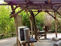 Хижина Sambesi племени в джунглях стоковое фото rf