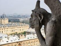 Химера философ на Нотр-Дам de Париже Стоковое Изображение