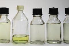 Химикаты в бутылках Стоковое фото RF