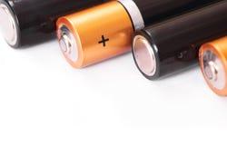 Химикат кадмия aa батареи алкалический Стоковое Фото