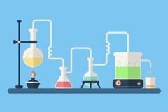 химическая лаборатория Стоковая Фотография RF