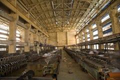 химическая китайская фабрика внутрь Стоковое Изображение