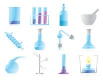 химическая лаборатория икон иллюстрация штока