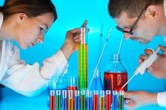 химическая лаборатория Стоковая Фотография