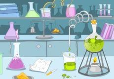 Химическая лаборатория иллюстрация вектора