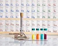Химическая наука показывая металлы переходной группы стоковое фото
