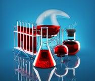 Химическая реакция Стоковые Изображения