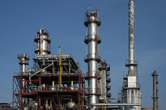 химическая тяжелая индустрия фабрики Стоковые Изображения