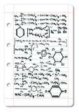 химическая формула Стоковое Изображение RF