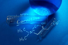 Химическая формула карнитина Стоковая Фотография