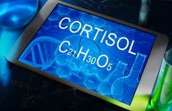 Химическая формула кортизола Стоковые Изображения
