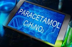 Химическая формула парацетамола Стоковые Фото