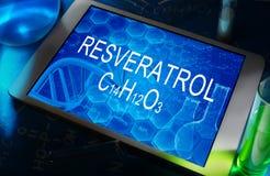 Химическая формула resveratrol Стоковое Фото