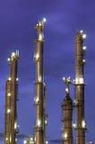 химические башни стоковые фотографии rf