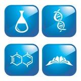 химические иконы Стоковые Фотографии RF