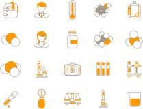 химические иконы Стоковые Изображения RF