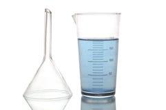 химические реторты стоковое изображение
