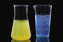 химические реторты стоковые фото